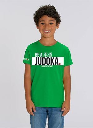 """Picture of Ippon Gear majica  kids """"Be A Judoka"""" - zelena (JIAPP18)"""