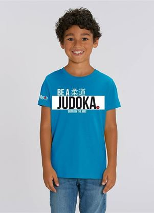 "Picture of IPPON GEAR majica  kids ""Be A Judoka"" - plava (JIAPP19)"