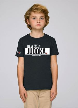 "Picture of IPPON GEAR majica  kids ""Be A Judoka"" - crna (JIAPP12)"